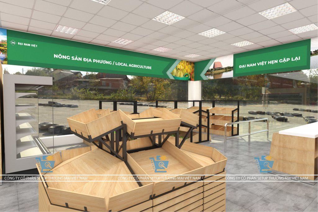 Thiết kế layout siêu thị Đại Nam Việt