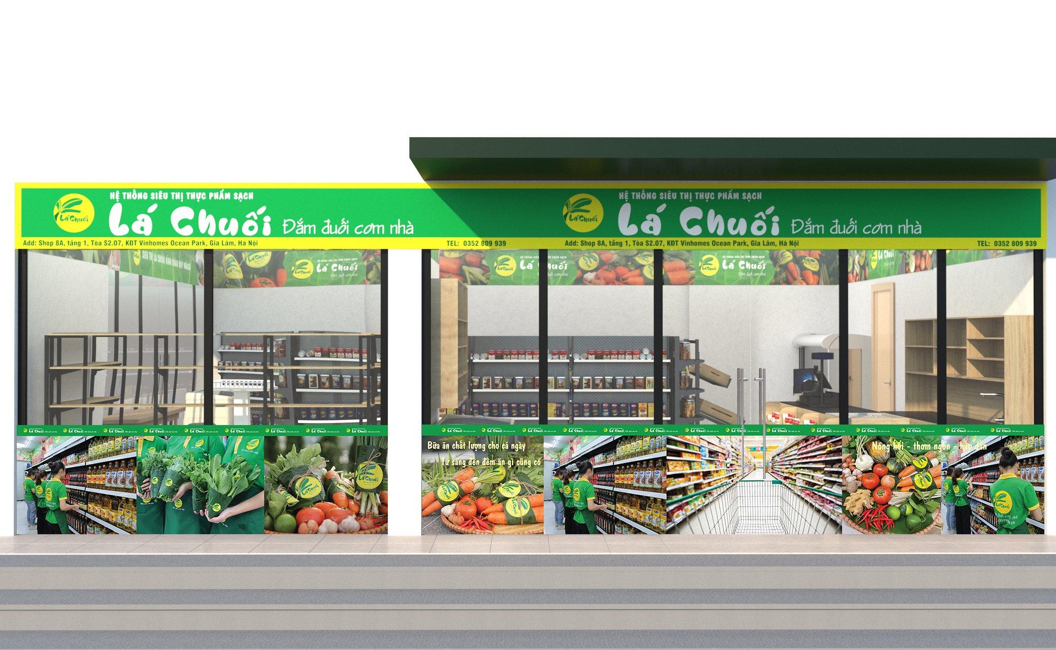 mẫu thiết kế  siêu thị sang trọng